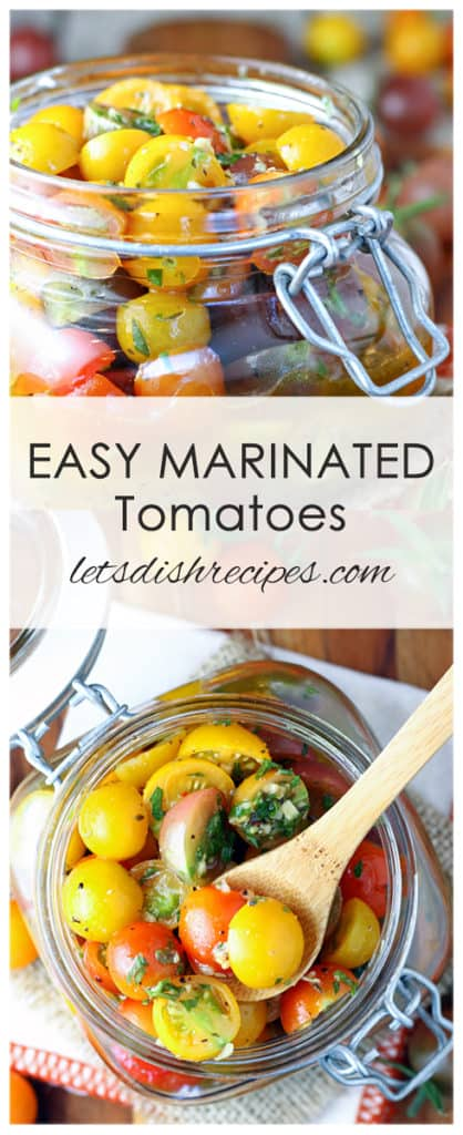 Easy Marinated Cherry Tomatoes