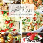 Easy Meal Plan Week 6