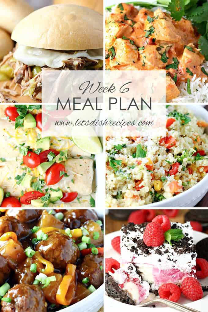 Easy Meal Plan Week 6