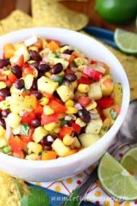 Rainbow Pineapple Salsa