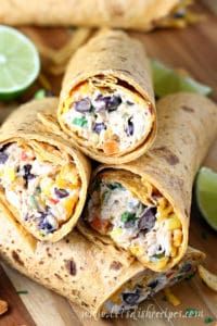 Southwest Cream Cheese Chicken Wraps