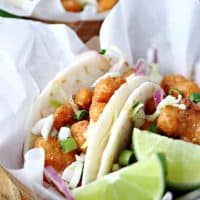 Spicy Baja Shrimp Tacos