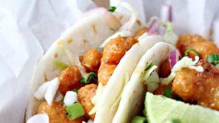 Spicy Baja Shrimp Tacos