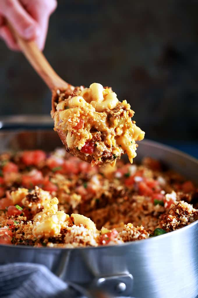 Green Chile and Chorizo Mac and Cheese