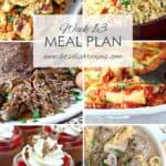 Let's Dish Easy Meal Plan (Week 13)