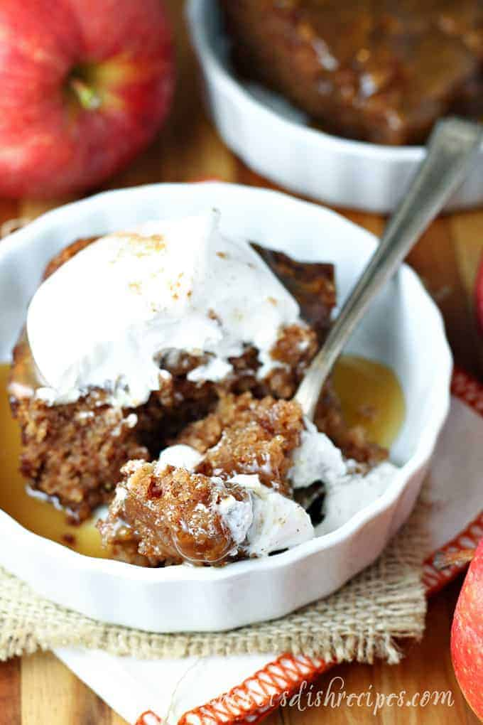 Sticky Apple Pudding Cake with Caramel Sauce