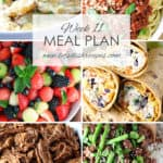 Week 11 Meal Plan