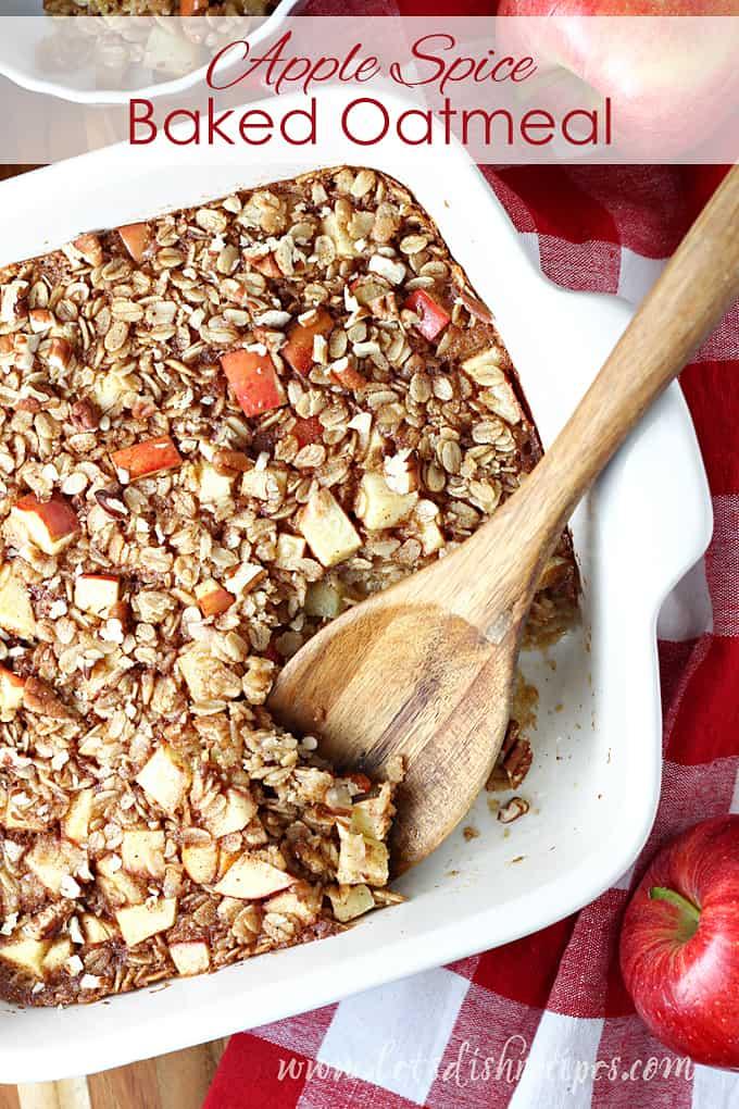 Apple Spice Baked Oatmeal