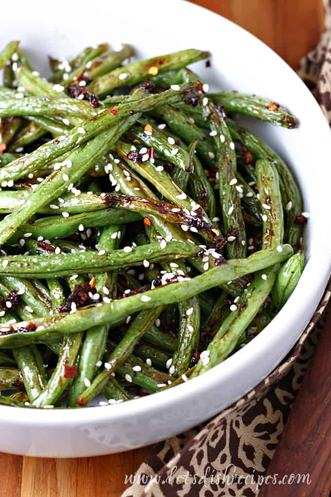 Spicy Roasted Asian Green Beans