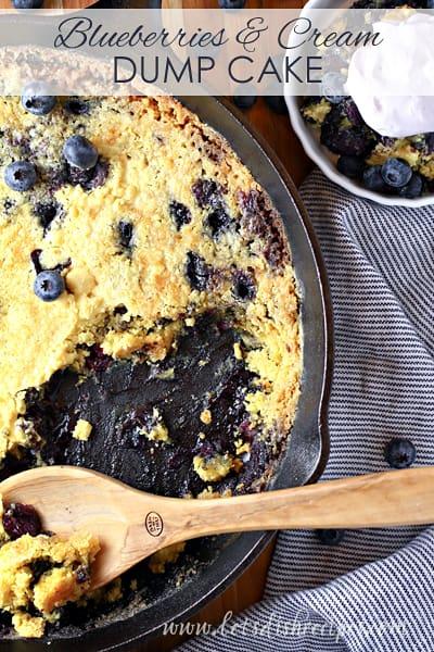 Blueberries and Cream Dump Cake