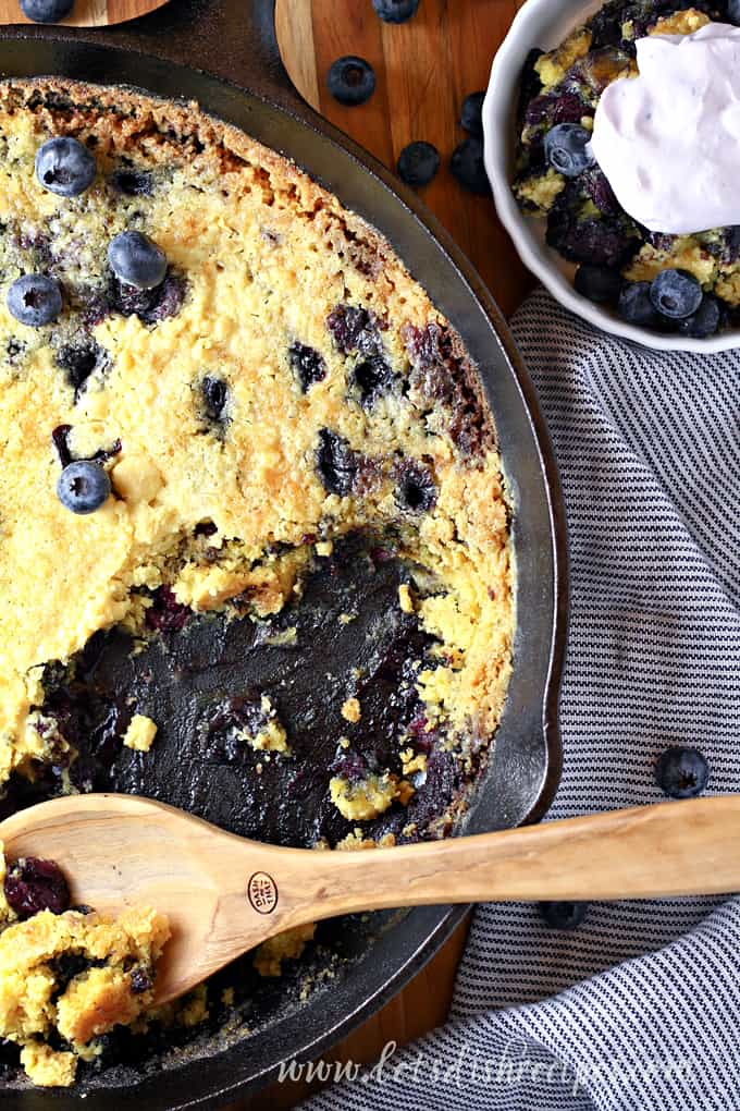 Blueberries and Cream Dump Cake
