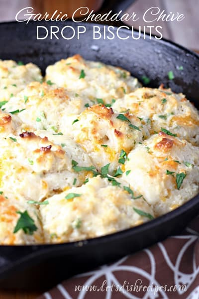 Garlic Cheddar Chive Drop Biscuits