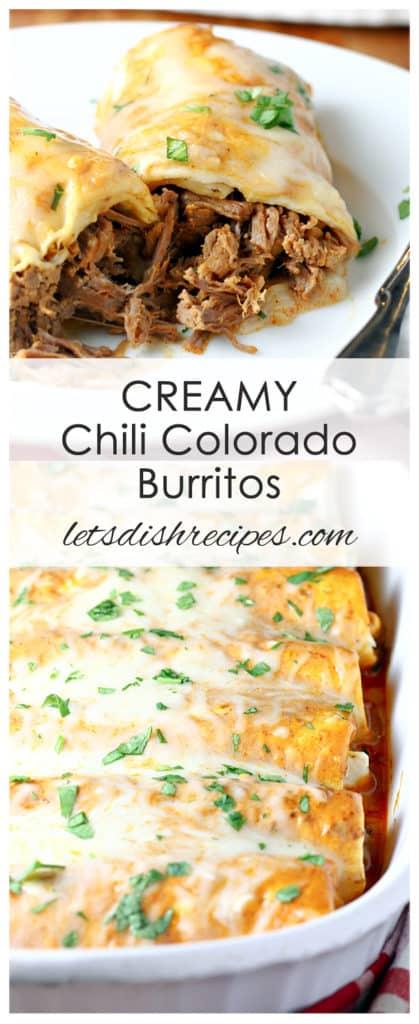 Creamy Chili Colorado Burritos