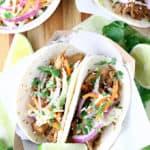 Slow Cooker Korean Pork BBQ Tacos