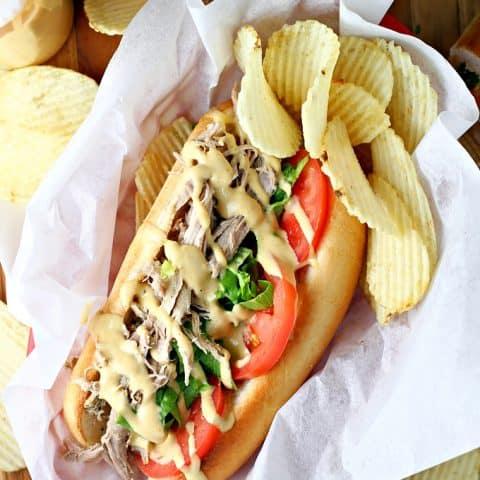 Pulled Pork Po'Boy Sandwiches
