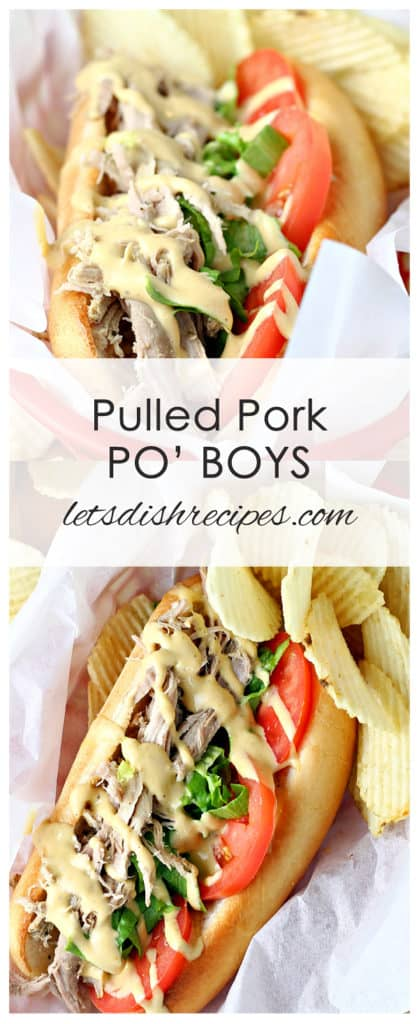 Pulled Pork Po'Boy Sandwiches