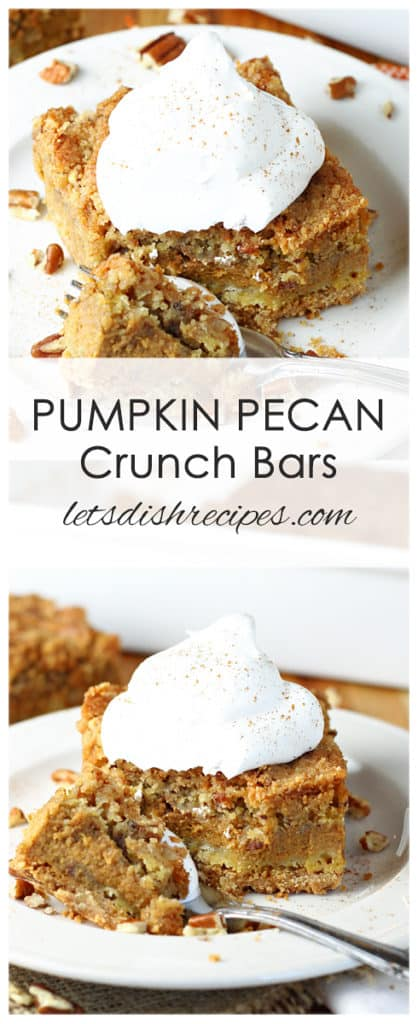 Pumpkin Pecan Crunch Bars