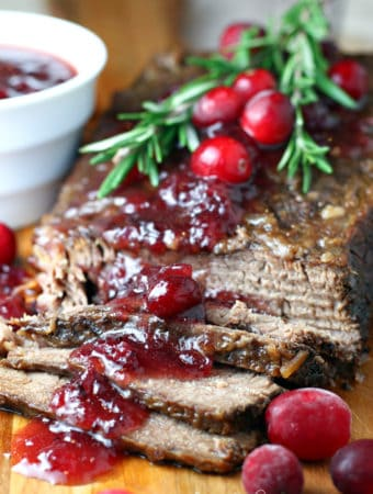 Slow Cooker Cranberry Brisket