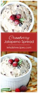 Cranberry Jalapeno Cream Cheese Spread