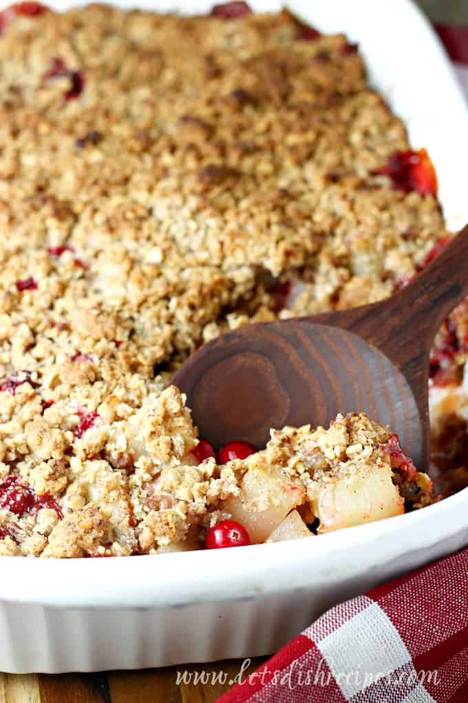 Spiced Cranberry Pear Crisp