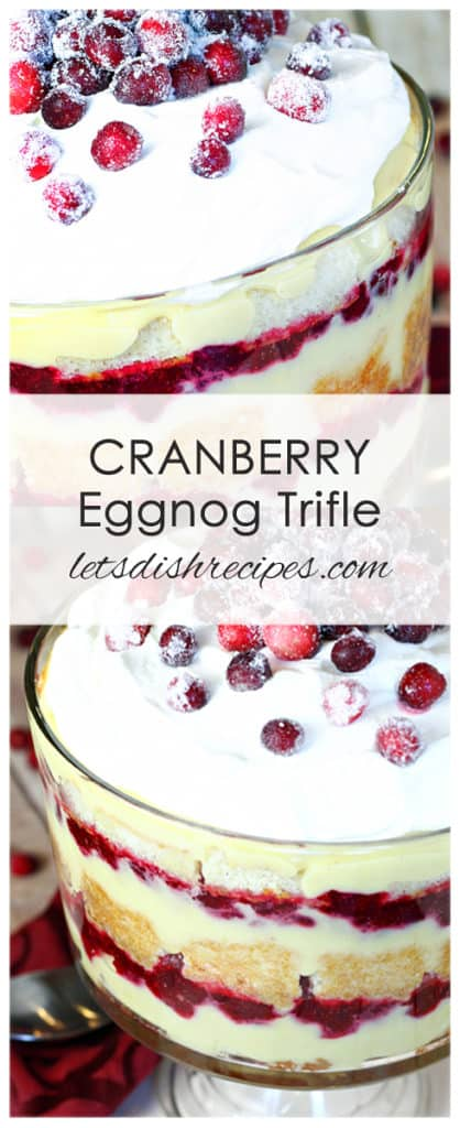 Cranberry Eggnog Trifle