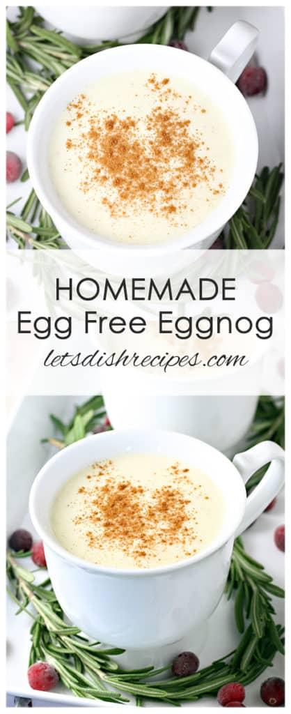 Homemade Egg Free Eggnog