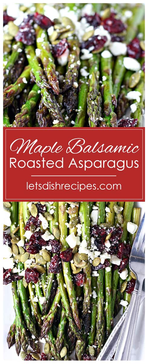 Maple Balsamic Roasted Asparagus