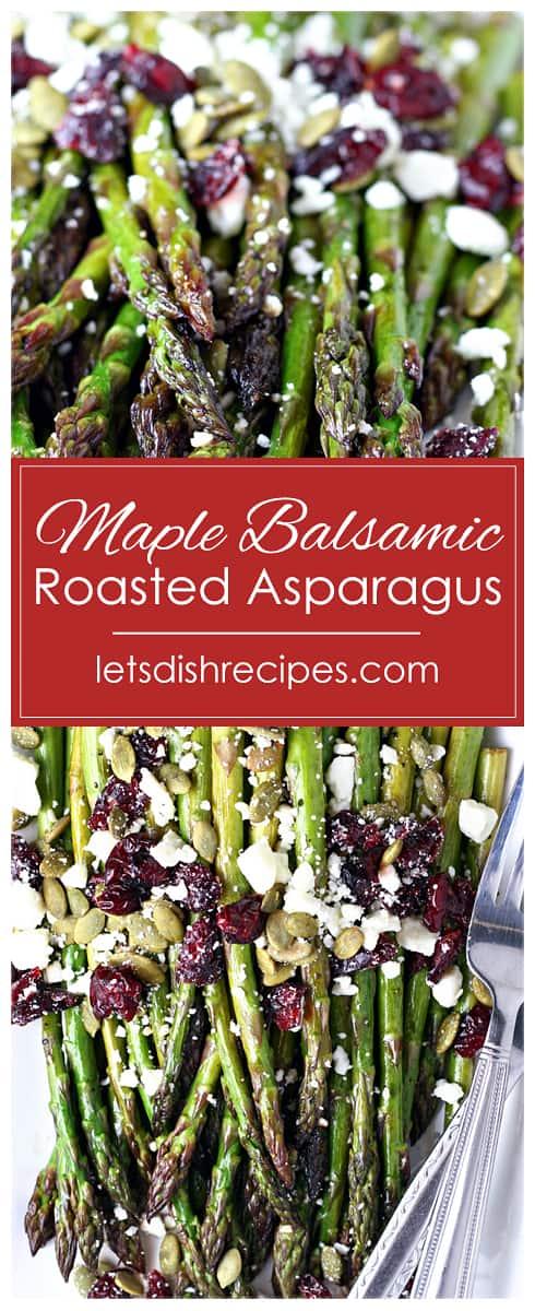 Maple Balsamic Roasted Asparagus
