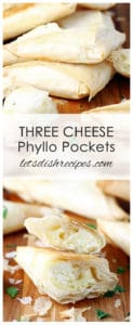 Three Cheese Phyllo Pockets