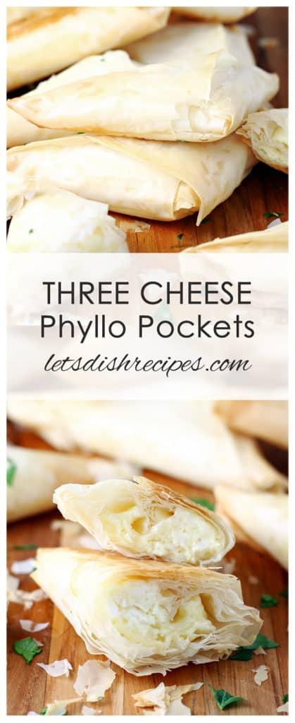 Three Cheese Phyllo Pockets
