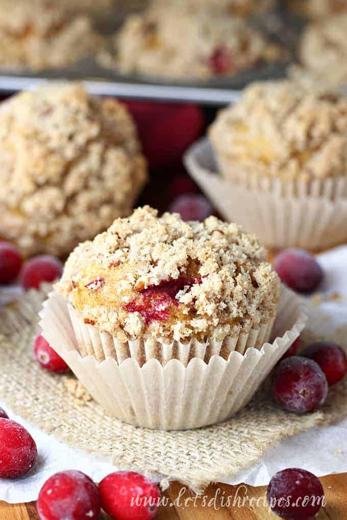 Pumpkin Cranberry Streusel Muffins