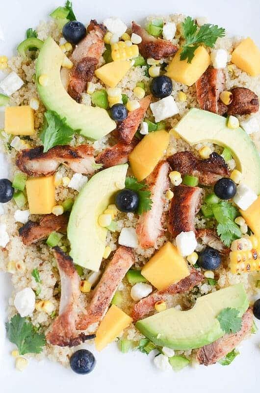 Blackened Chicken & Quinoa Salad {Fake Ginger}