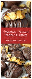 Chocolate Caramel Peanut Clusters