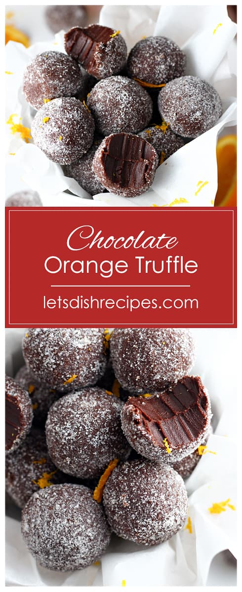 Easy Chocolate Orange Truffles