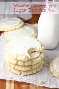 Frosted Eggnog Sugar Cookies