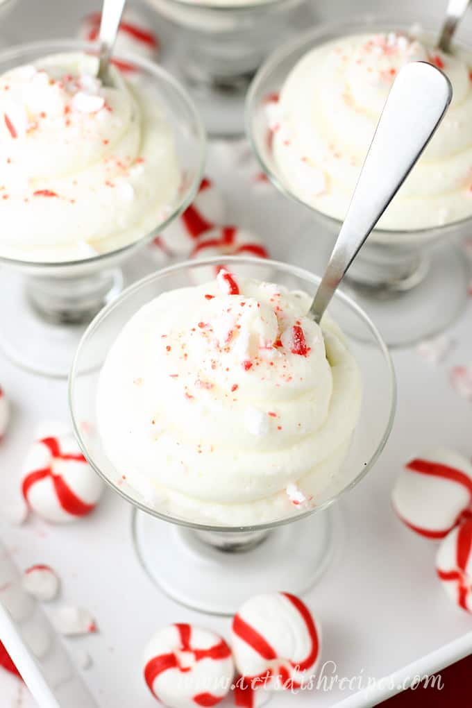 No Bake Peppermint Cheesecake Mousse