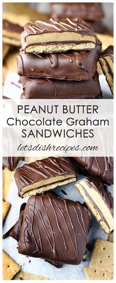 Peanut Butter Chocolate Graham Sandwiches
