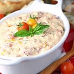 Roasted Red Pepper Tomato Feta Dip