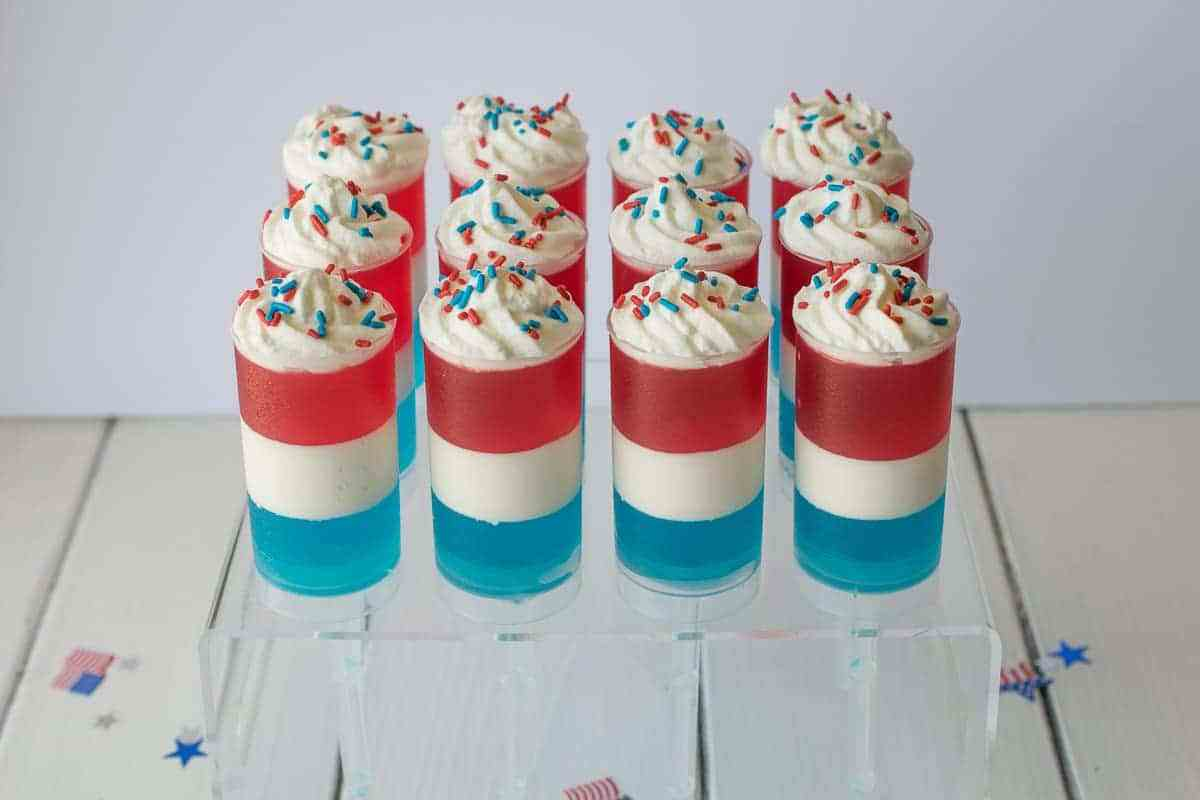 Patriotic Jello and Cream Push Pops {Culinary Ginger}