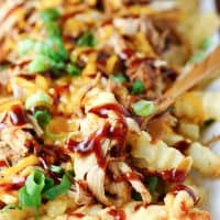 Balsamic Barbecue Pulled Pork Fries