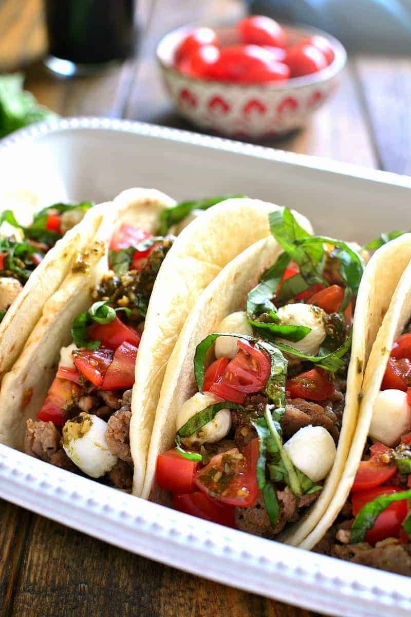 Caprese Tacos