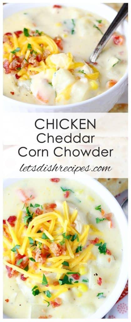 Chicken Cheddar Corn Chowder