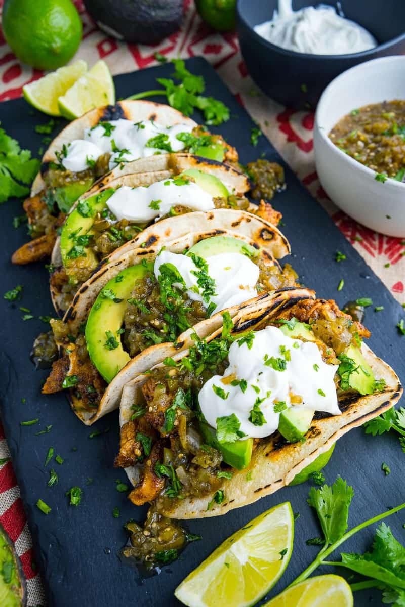 Chicken and Avocado Tacos