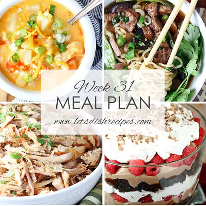 Easy Meal Plan 31