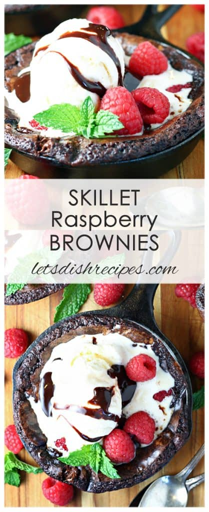 Skillet Raspberry Brownies