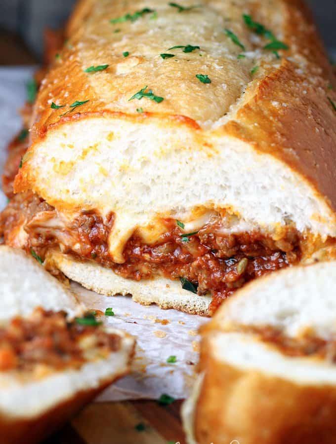 Italian Sloppy Joe Sub Sandwiches