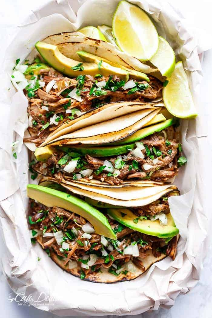 Slow Cooker Barbacoa Short Rib Tacos