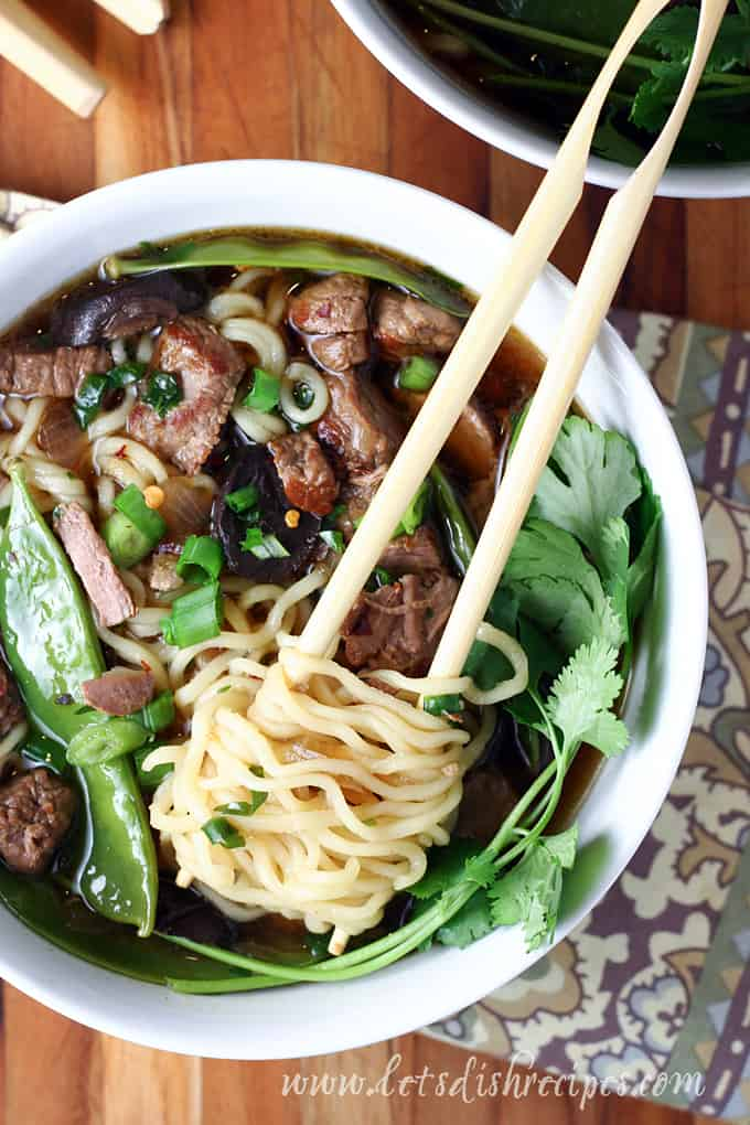 Slow Cooker Beef Ramen | Let's Dish Recipes