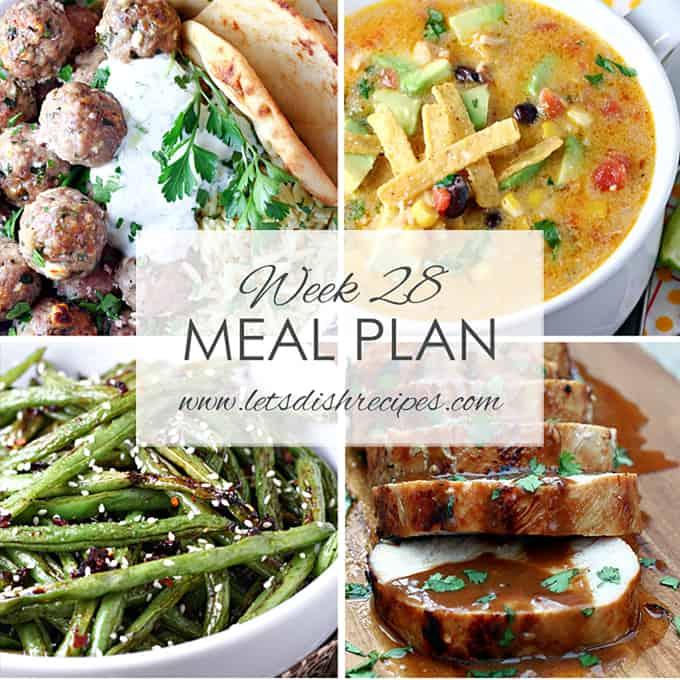 Week 28 Meal Plan