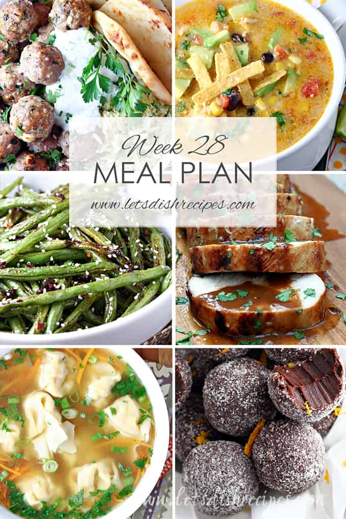 Week 28 Meal Plan